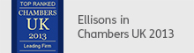 Ellisons in Chambers UK 2013