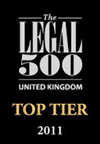 legal 500 top teir  2011