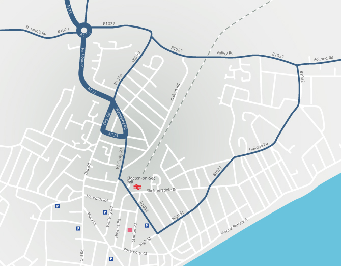 Location map for Clacton-on-Sea Office office