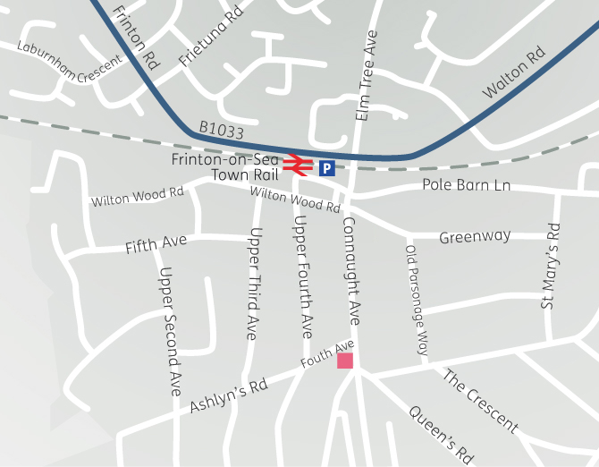 Location map for Frinton-on-Sea Office office