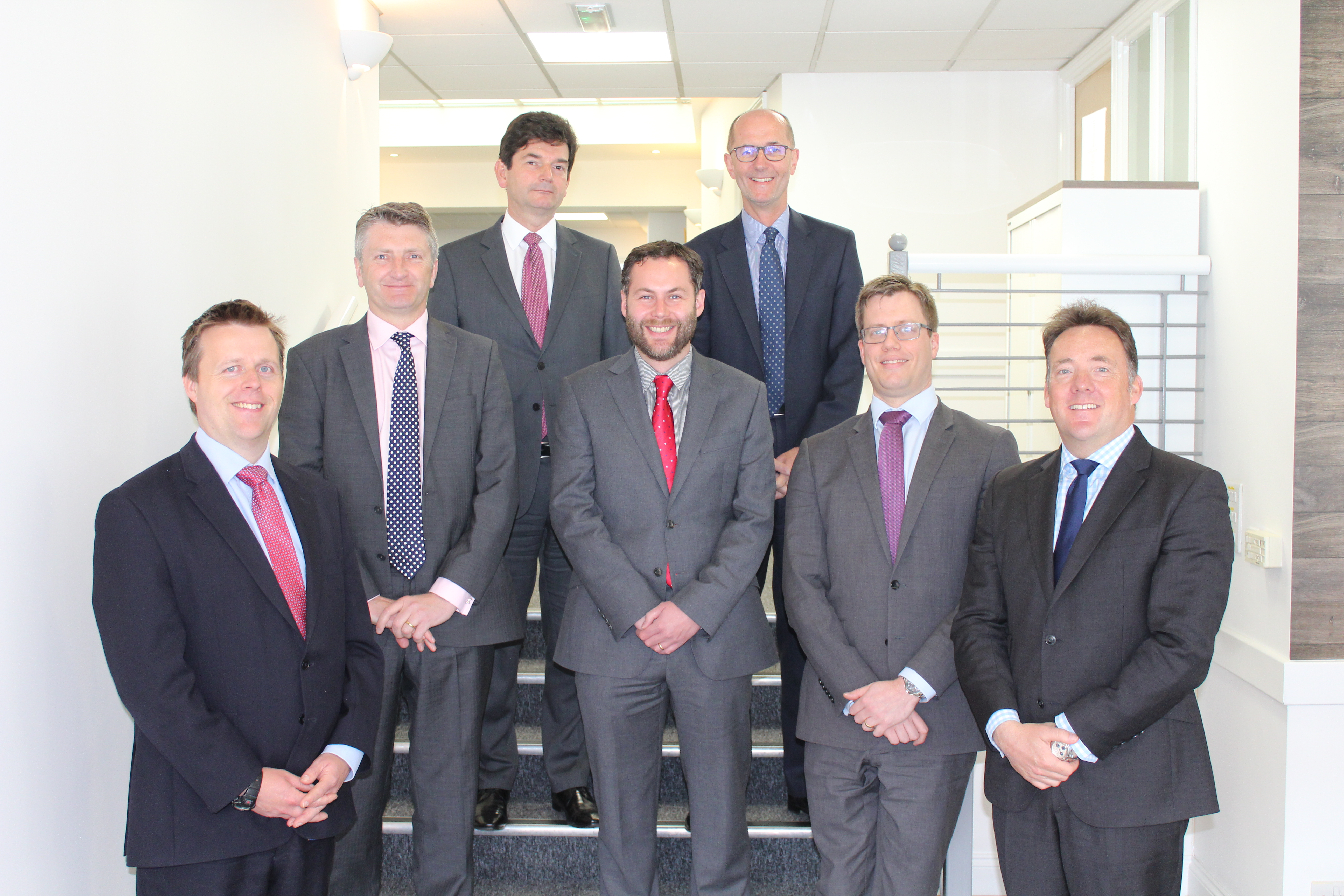 Guy Longhurst, Philip Roberts and Seamus Clifford with the new Ellisons Partners